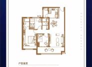 YJ120户型 三室两厅两卫128㎡
